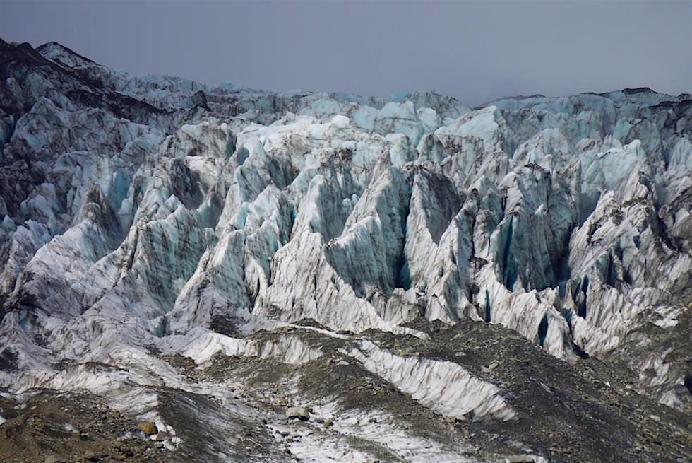Gletscherspalten Fox Glacier - Neuseeland Südinsel