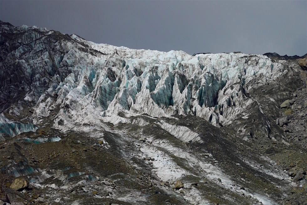 Blick auf das Gletscherfeld - Fox Glacier - Neuseeland Südinsel