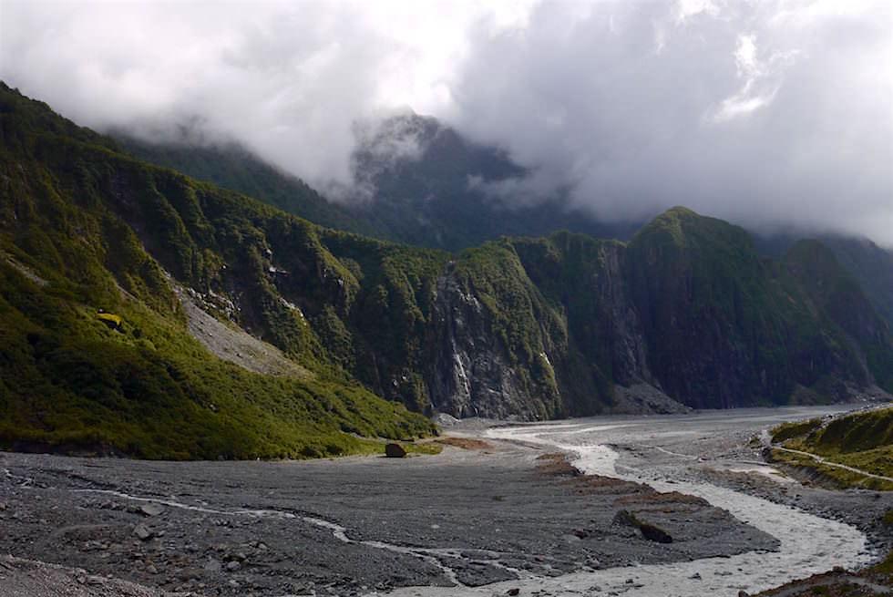 Fox Glacier, Fox River & das Tal - Neuseeland Südinsel
