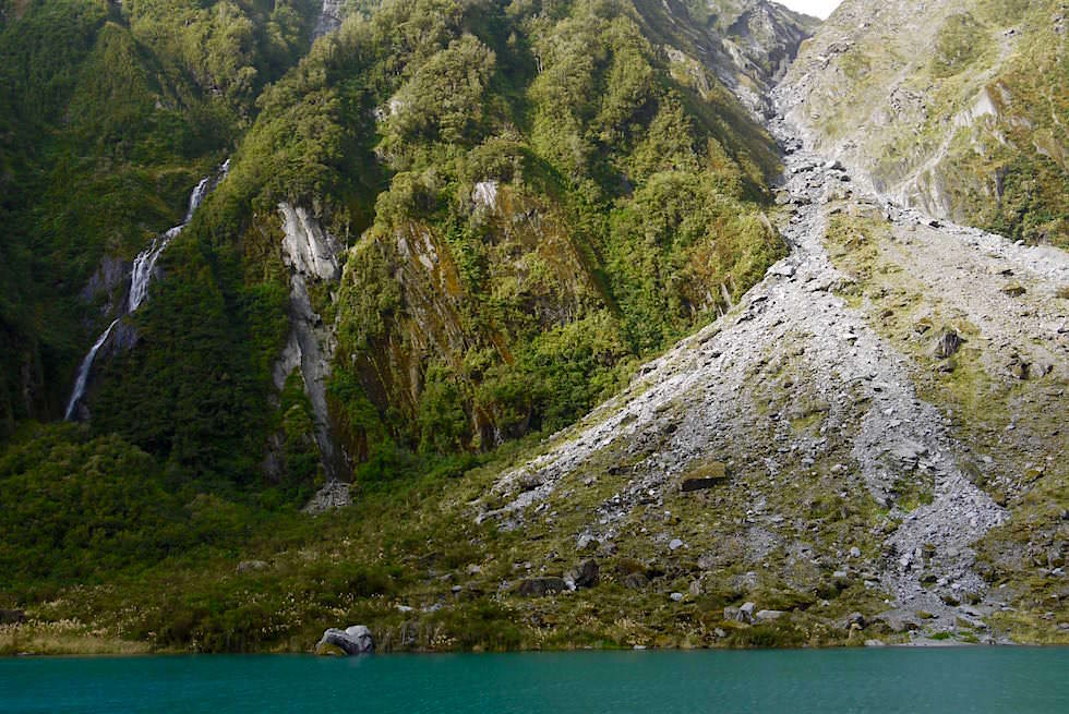Lagune Parkplatz - Fox Glacier - Neuseeland Südinsel