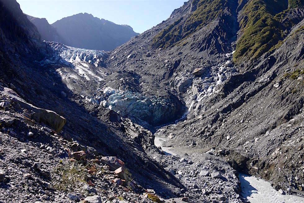 Fox Gletscher bei Sonnenschein - Neuseeland Südinsel