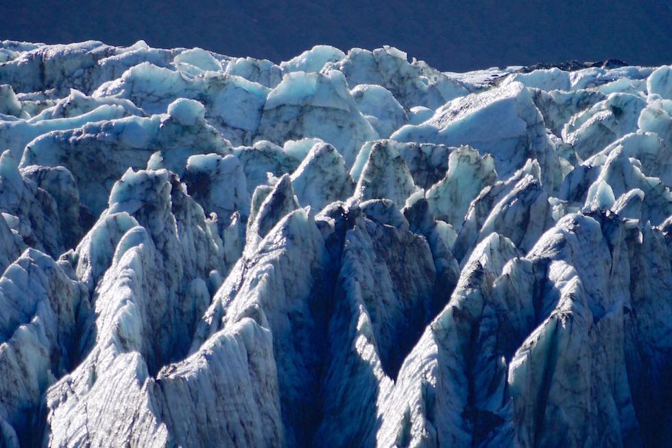 Blaue Gletscherspalten am Fox Gletscher - Neuseeland