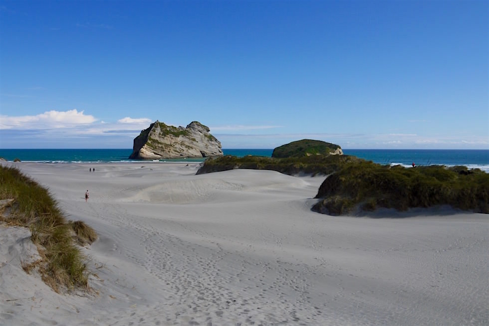 Sanddünen beim Wharariki Beach - Neuseeland Südinsel