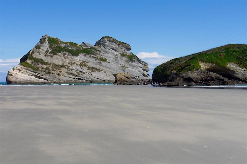 Robbenpools beim Wharariki Beach - Neuseeland im Norden der Südinsel
