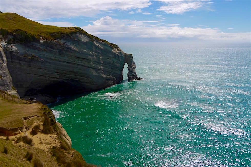 Blick auf die Aussichtsplattform Cape Farewell - Neuseeland Südinsel