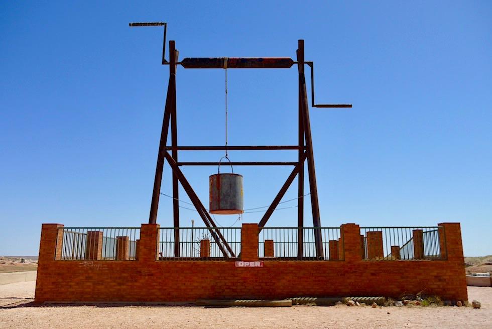 Coober Pedy - Big Winch Scenic Lookout: guter Ausblick auf die Stadt - South Australia