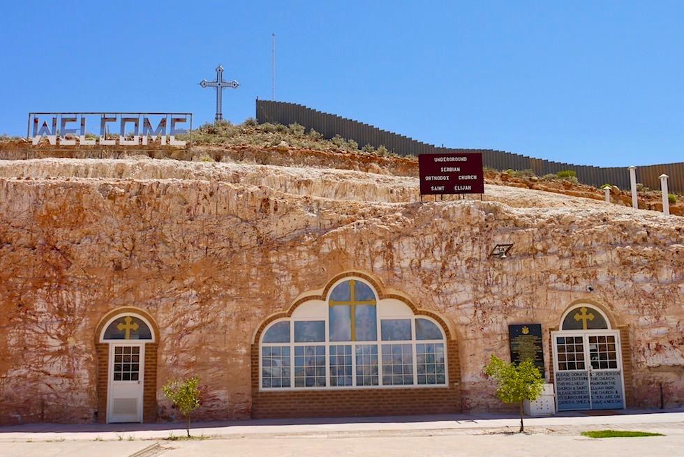 Coober Pedy - Unterirdische Gebäude: Serbisch Orthodoxe Kirche - South Austalia