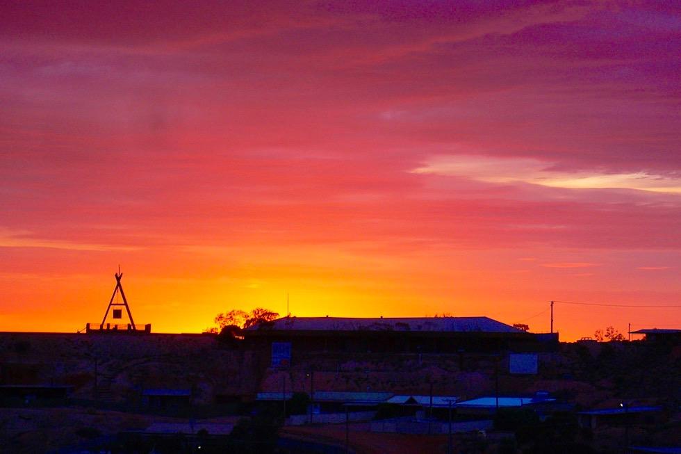 Coober Pedy - Wunderschöner Sonnenuntergang über der Wüste - South Australia