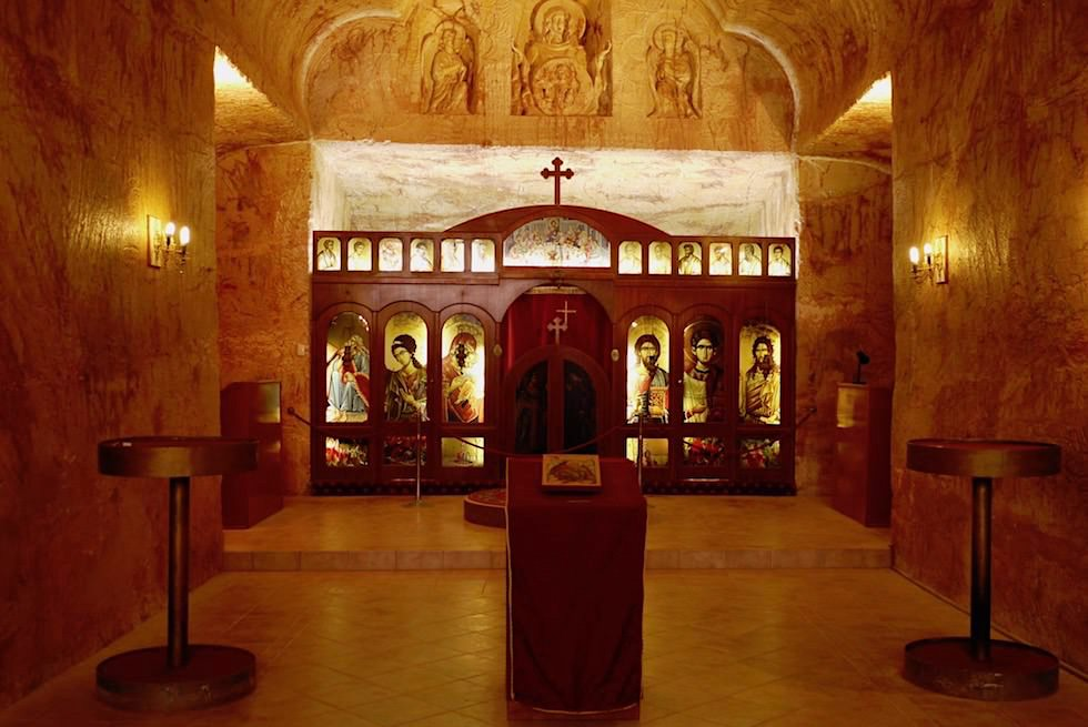 Coober Pedy - unterirdische Kirche - South Australia