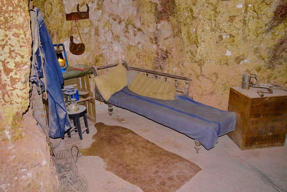Völlig bescheiden: Höhlenwohnungen der ersten Opalsucher - Coober Pedy - South Australia