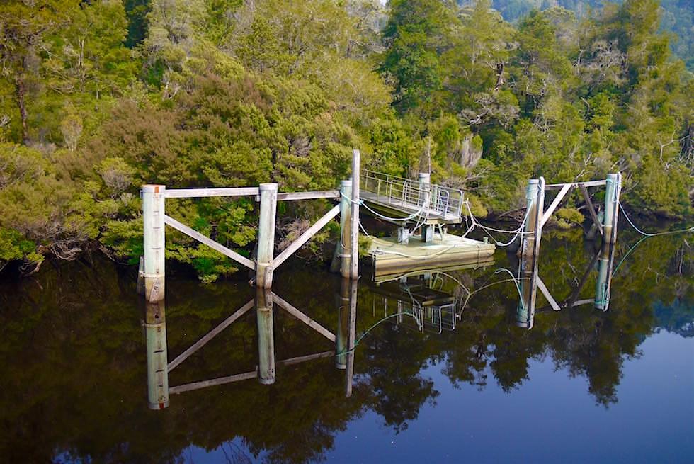 Heritage Landing am Unterlauf des Gordon Rivers - Tasmania