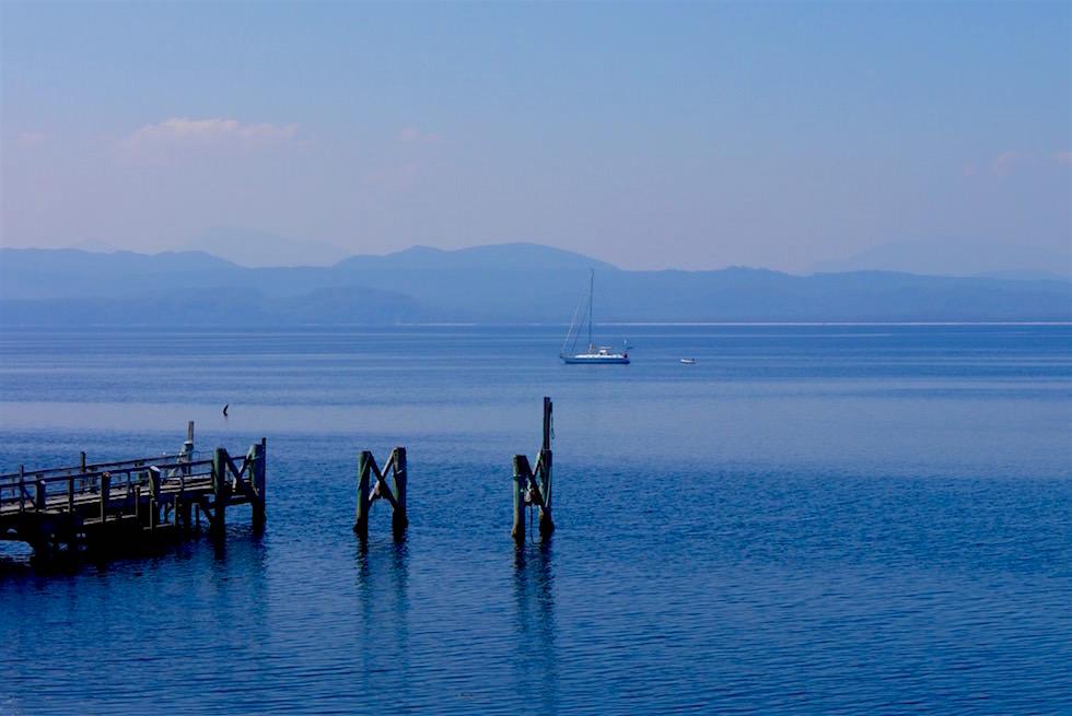 Pier von Sarah Island - Gordon River Cruise - Tasmanien