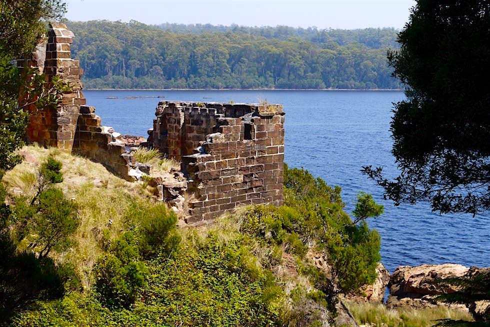 Altes Gemäuer der Macquarie Strafkolonie auf Sarah Island - Gordon River Cruise - Tasmania