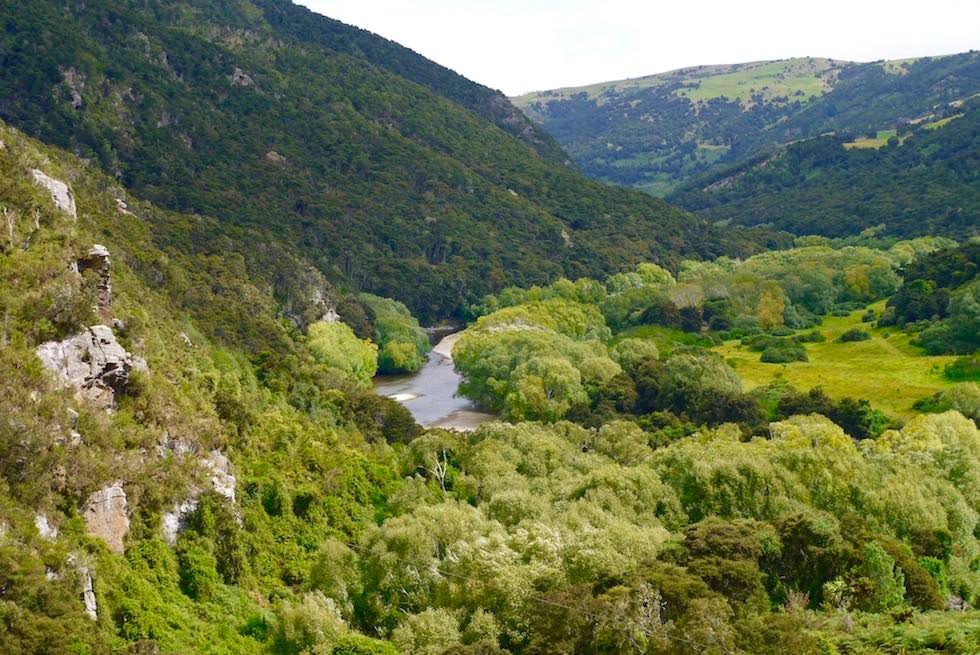 Von Salisbury nach Parera - Taieri Gorge Railway - Neuseeland Südinsel