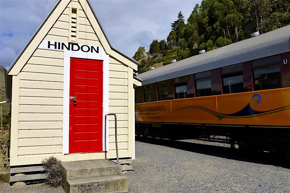 Hindon ein Bahnhof auf der Taieri Gorge Railway Route - Neuseeland, Südinsel