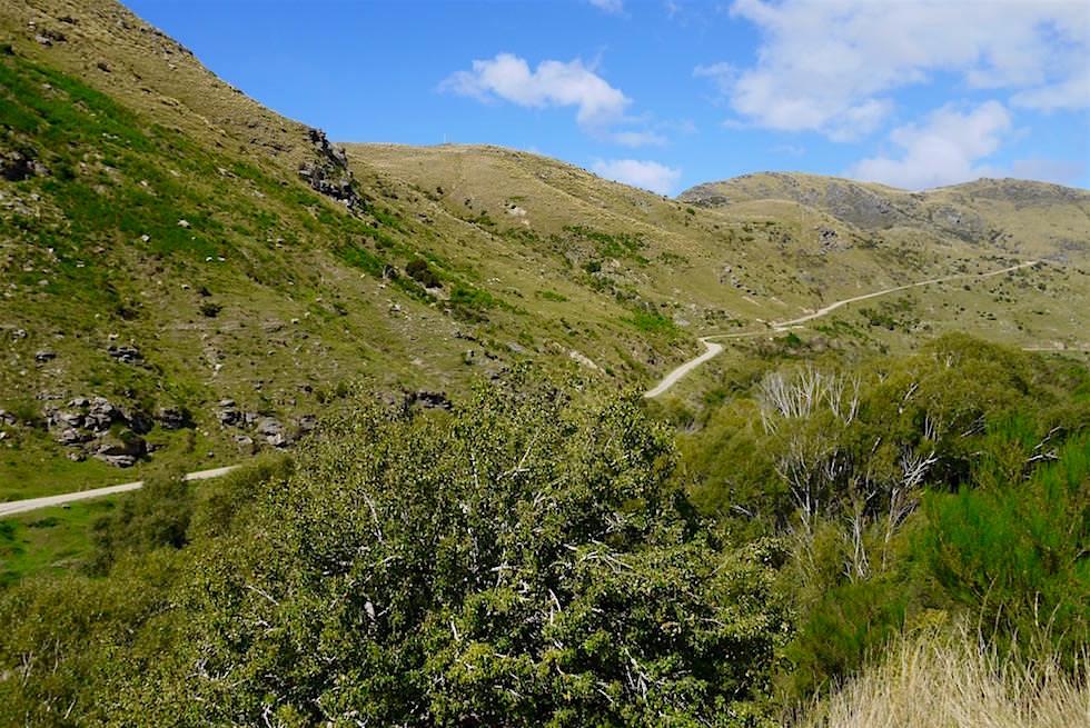 Tracks & Stations auf Taieri Gorge Railway Route - Neuseeland Südinsel