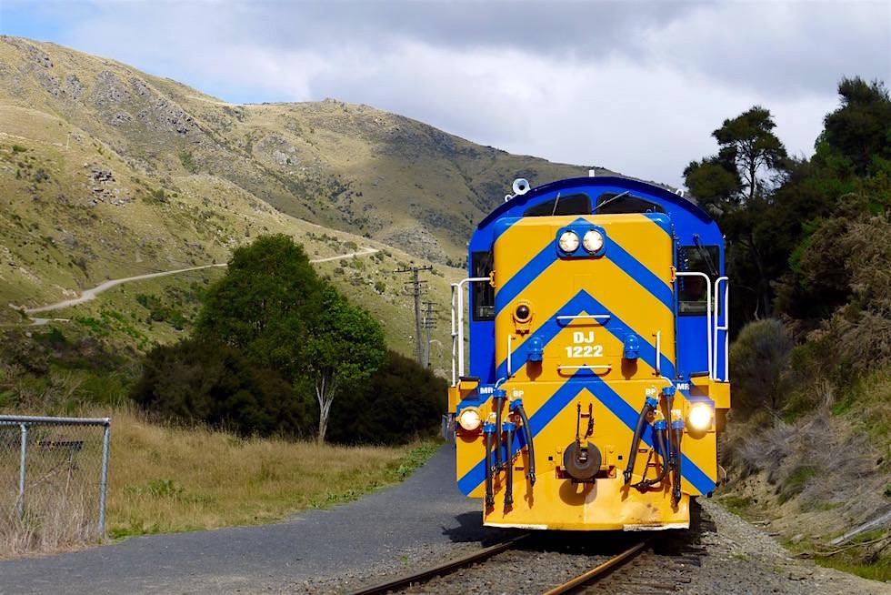 Lokomotive der Taieri Gorge Railway in Hindon - Neuseeland Südinsel