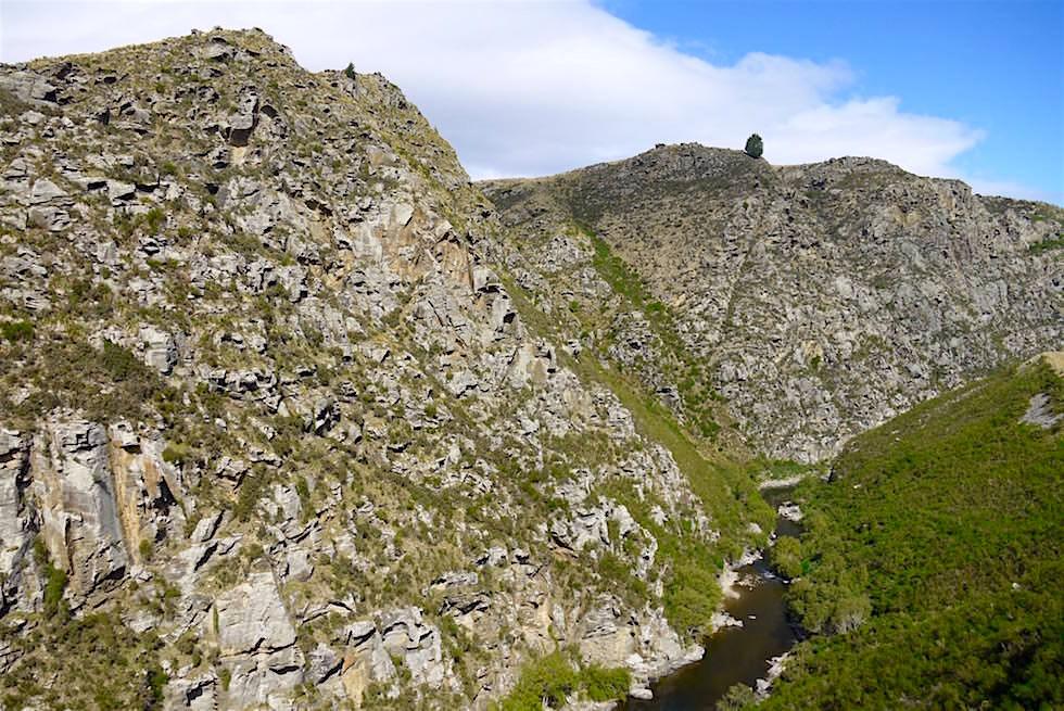Atemberaubende Taieri Schlucht - Taieri Gorge Railway - Neuseeland Südinsel