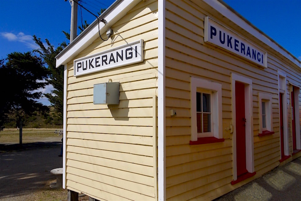 Pukerangi Bahnhof - Taieri Gorge Railway - Neuseeland Südinsel