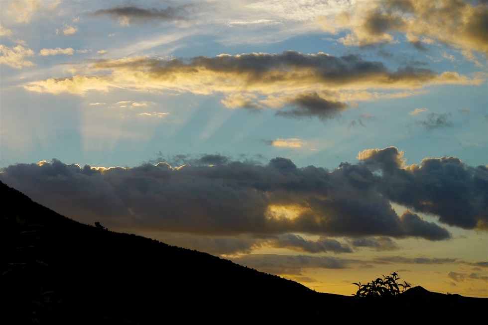 Sonnenuntergang - Tahora Sattel - Forgotten World Highway - Neuseland Nordinsel