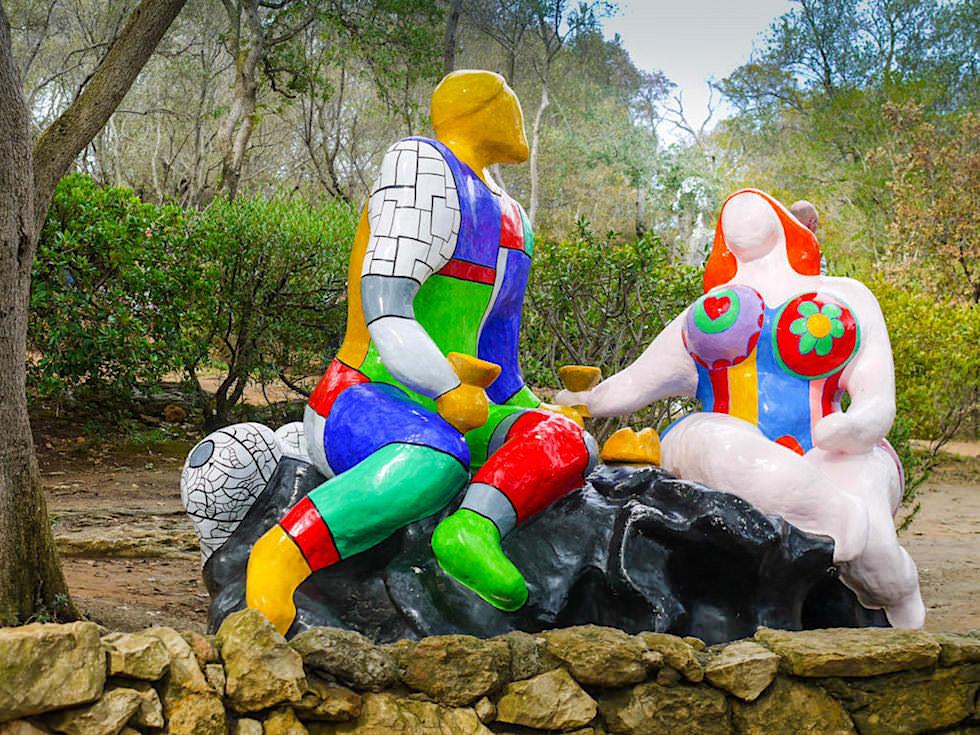Tarot Garten von Niki de Saint Phalle - Die Wahl & die Liebenden: es gibt immer eine Wahl und jede bringt näher an die innere Wahrheit - Toskana, Italien