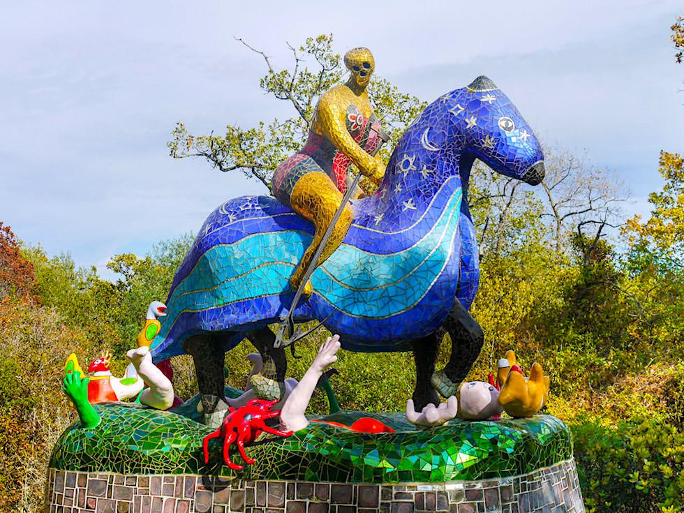 Tarot Garten von Niki de Saint Phalle - Der Tod ist das große Geheimnis des Lebens - Toskana, Italien