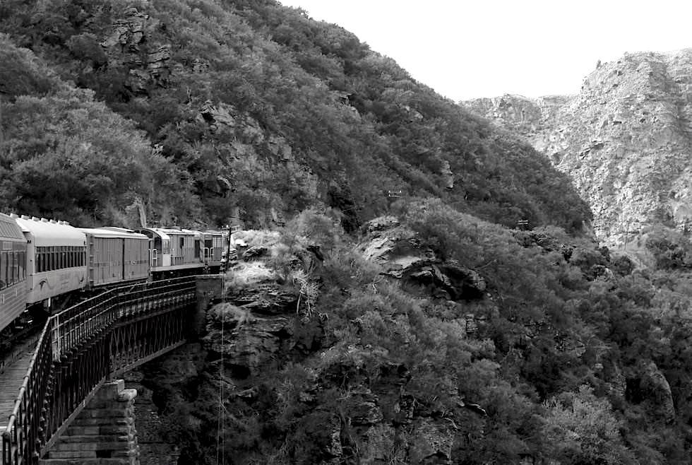Geschichte und der Bau der Otago Central Railway - Neuseeland Südinsel