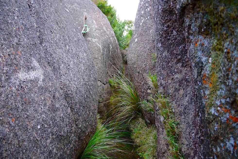 Enger Pfad zwischen Granitfindlingen - Nancy Peak Walk - Porongurup National Park - Western Australia