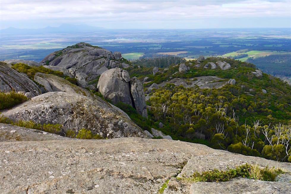 Marmabup Peak - Devils Slide - Nancy Peak Walk im Porongurup National Park - Western Australia