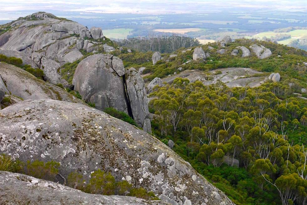 Blick vom Marmabup - Devils Slide Trail - Porongurup National Park - Western Australia