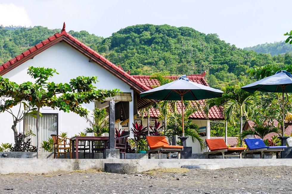 Amed Beach Bali - Typische kleinere Unterkünfte - Indonesien