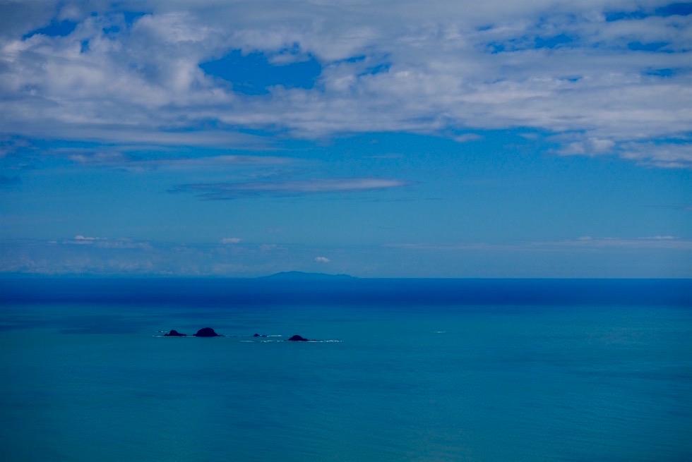 Erster Blick auf die Bay of Plenty - White Island Flights - Neuseeland Nordinsel