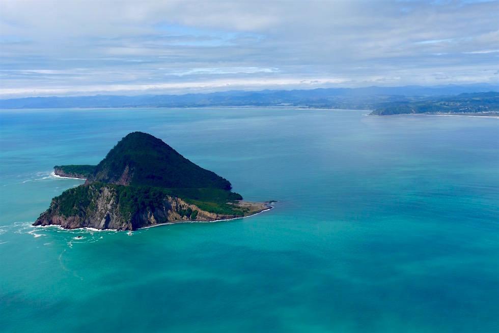 Flug über Whale Island bei Whakatane - White Island Flights - Neuseeland Nordinsel