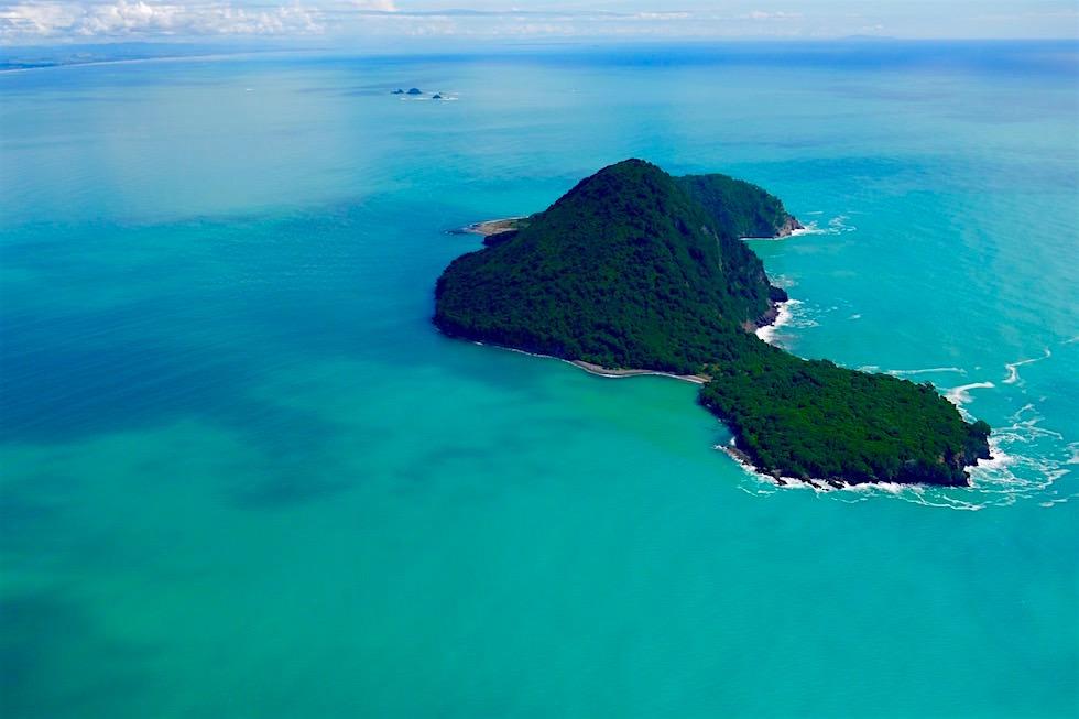 Whale Island von oben gesehen mit White Islands Flights - Neuseeland Nordinsel