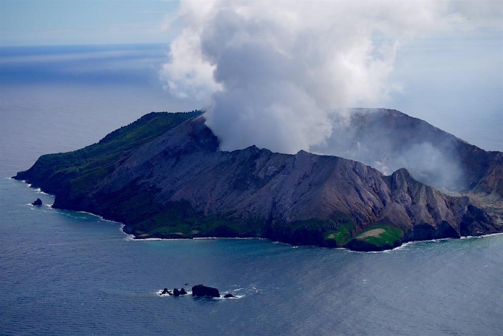 Mit White Island Flights zu der einizigen aktiven Vulkaninsel - Neuseeland Nordinsel