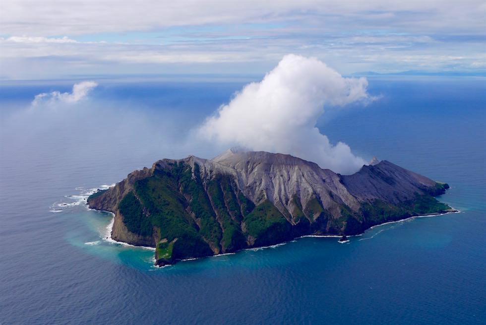 Blick auf White Island - White Island Flights - Neuseeland Nordinsel