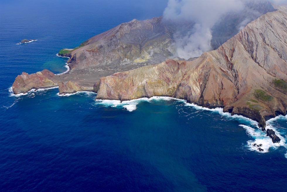 White Island aus dem Flugzeug aus gesehen mit White Island Flights - Neuseeland Nordinsel