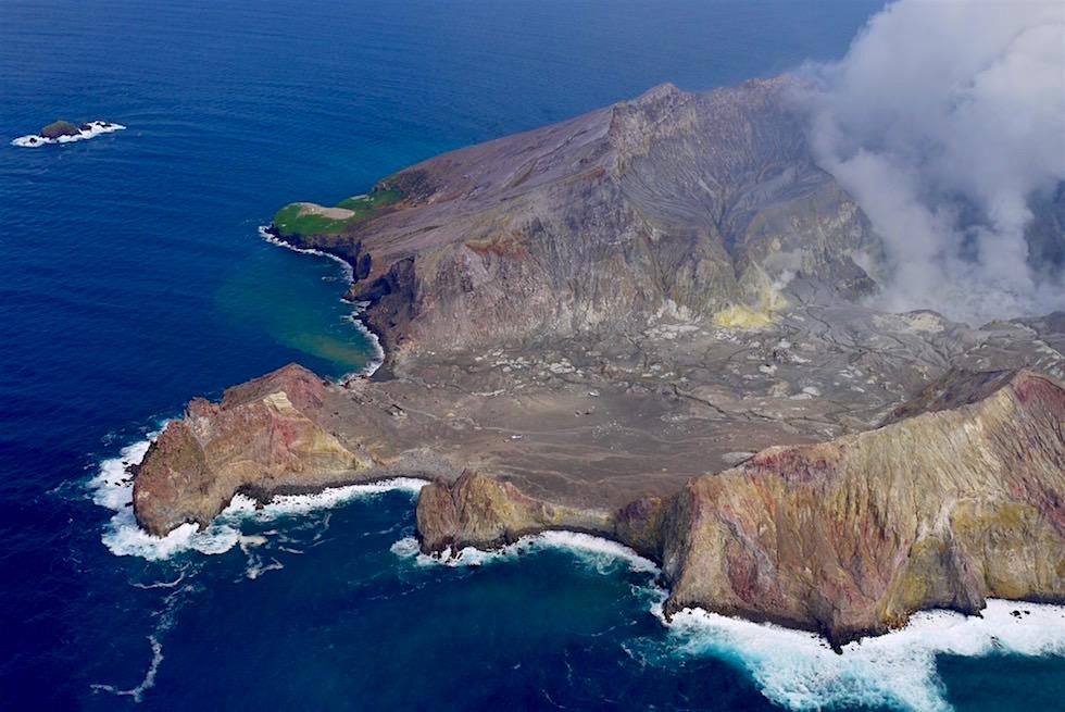 White Island aus der Vogelpersektive gesehen - White Island Flights - Neuseeland Nordinsel