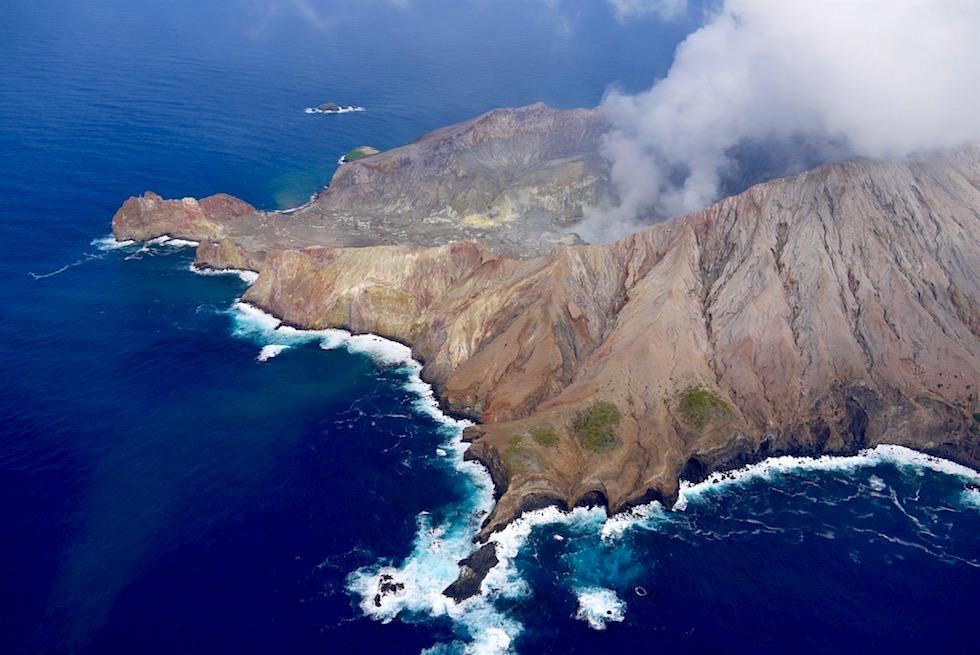 White Island Flug von Whakatane über den einzig aktiven Vulkan White Island - Neuseeland Nordinsel