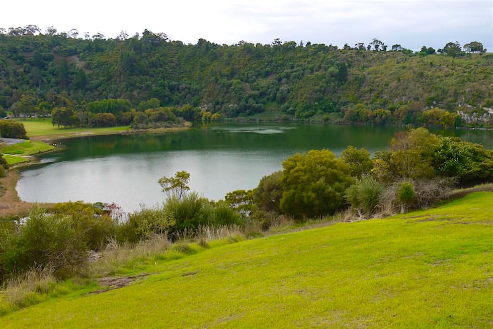 Blick vom Marc's Lookout auf Valley Lake - Mount Gambier - South Australia