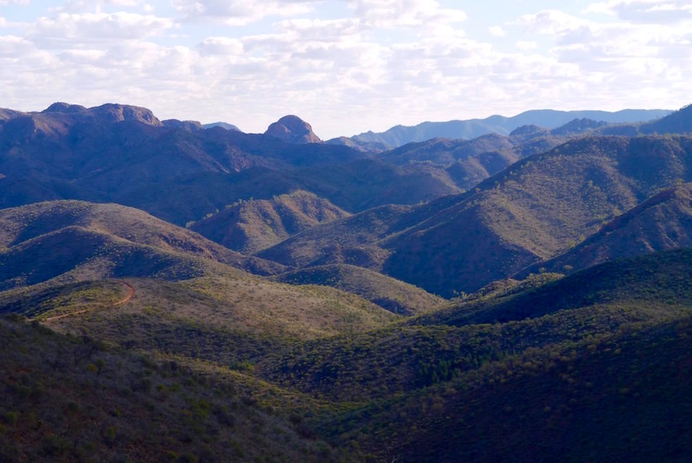 Ausblick vom Coulthard's Lookout auf der Ridge Top Tour - Arkaroola - South Australia