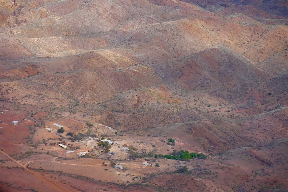 Arkaroola Wilderness Sanctuary von oben - Flinders Ranges - Southern Australia