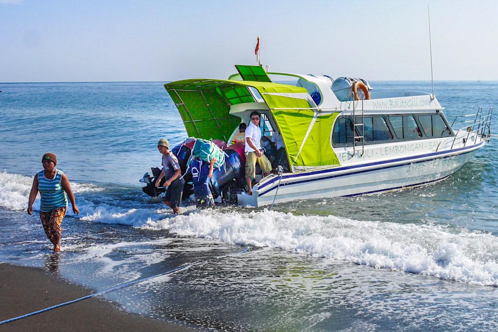 Mit dem Schnellboot von Amed Bali auf die Gilis - Indonesien