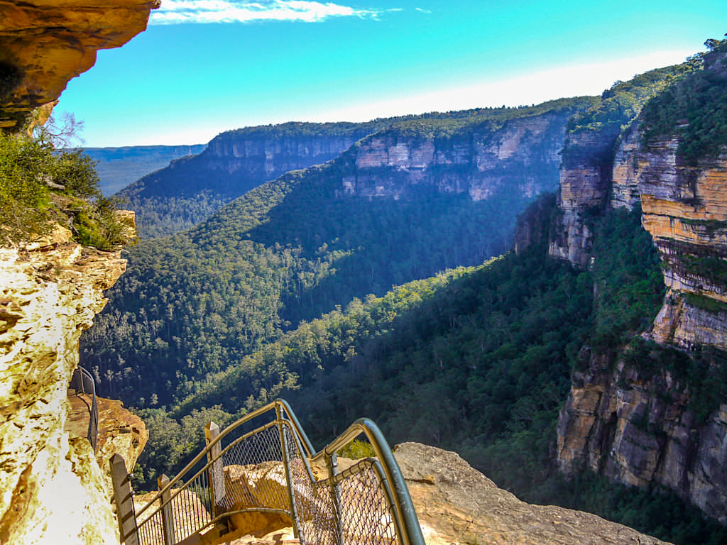 Blue Mountains - Grand Stairway entlang der Wentworth Falls - New South Wales
