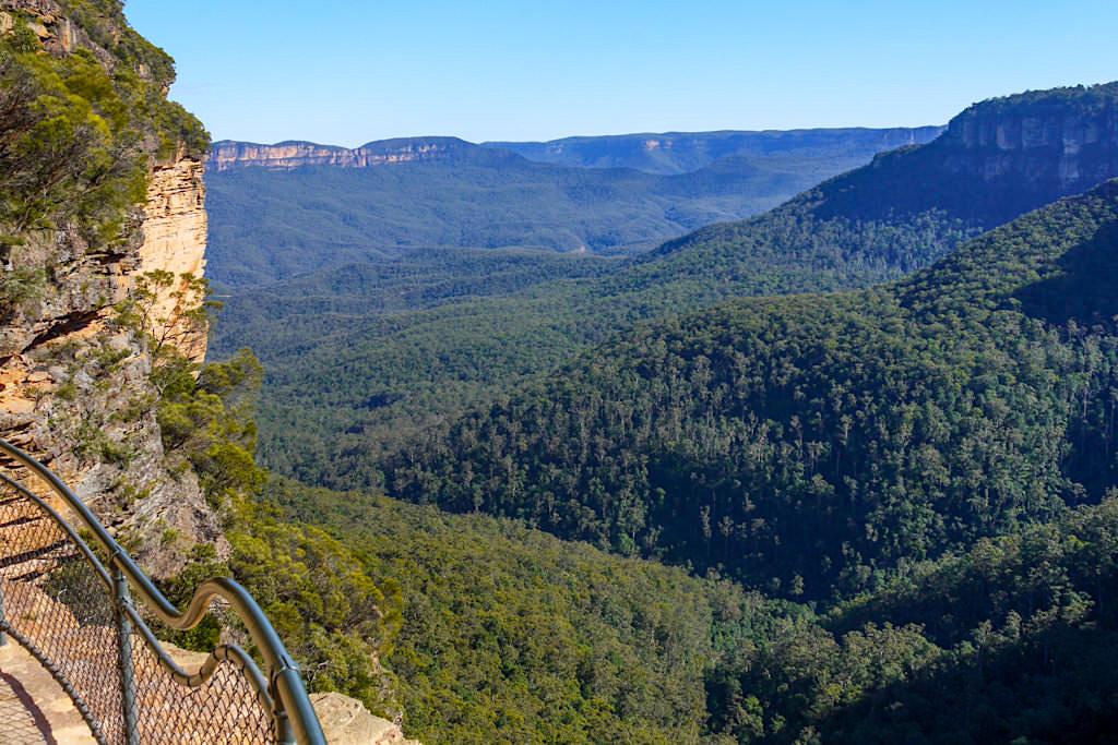 Schönste Blue Mountains Wanderung - Grand Stairways mit imposantem Ausblick über die Eukalyptuswälder - New South Wales