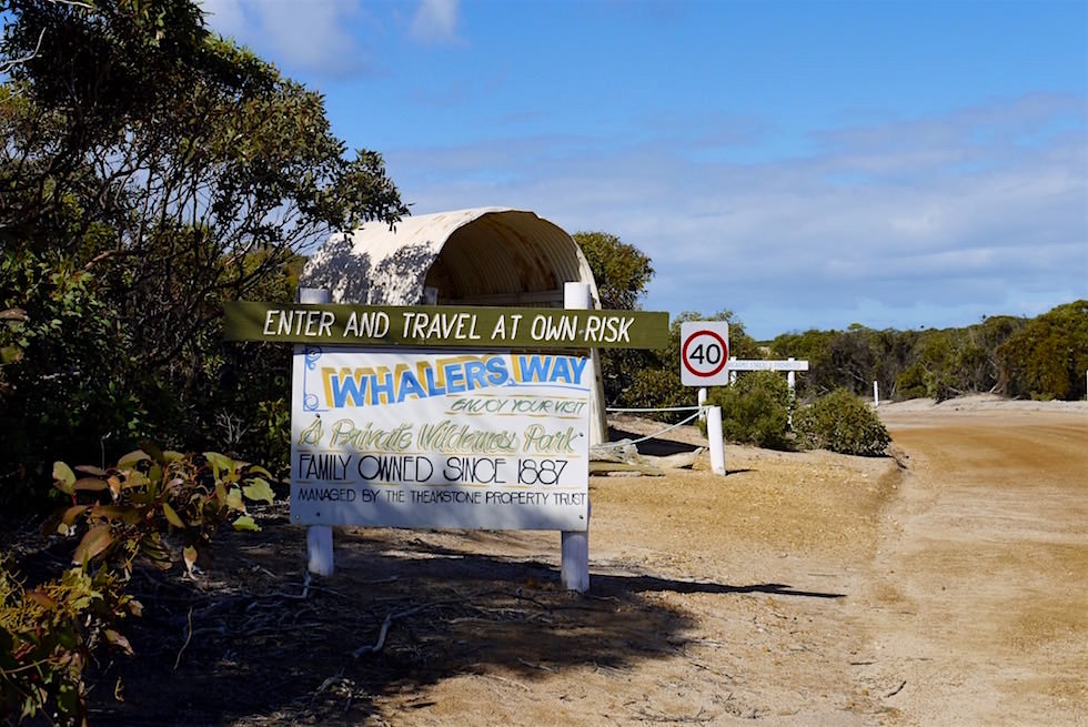 Whalers Way - Eingang - Port Lincoln - South Australia