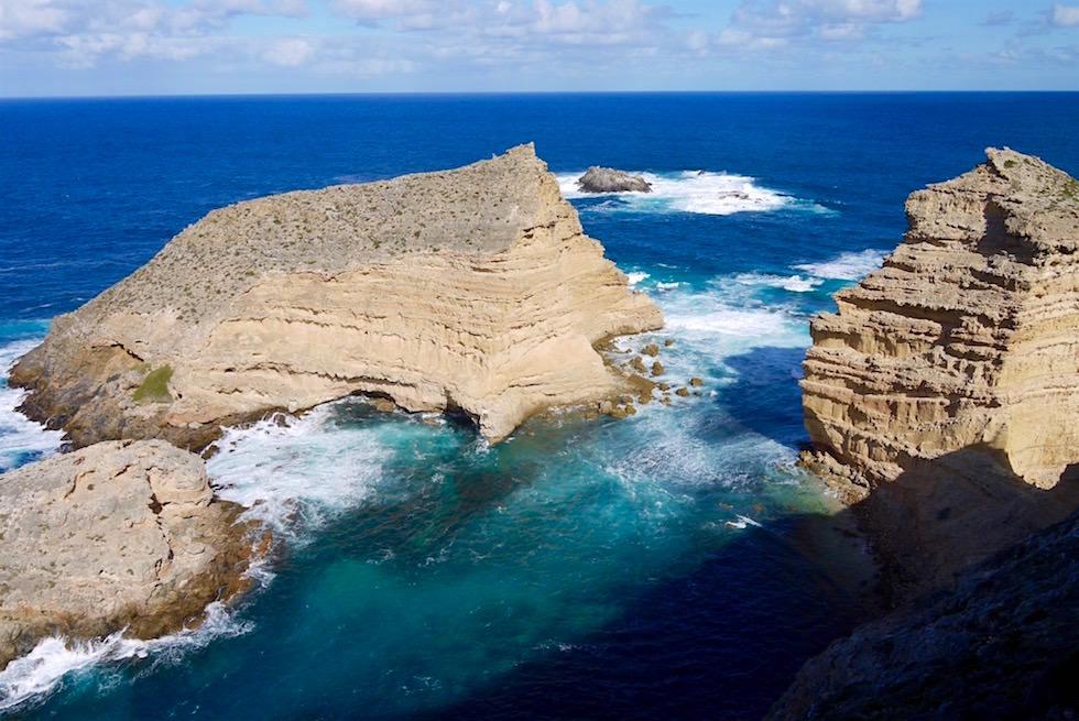 Ausblick vom Cape Wiles auf den wilden Southern Ocean - Whalers Way bei Port Lincoln - South Australia
