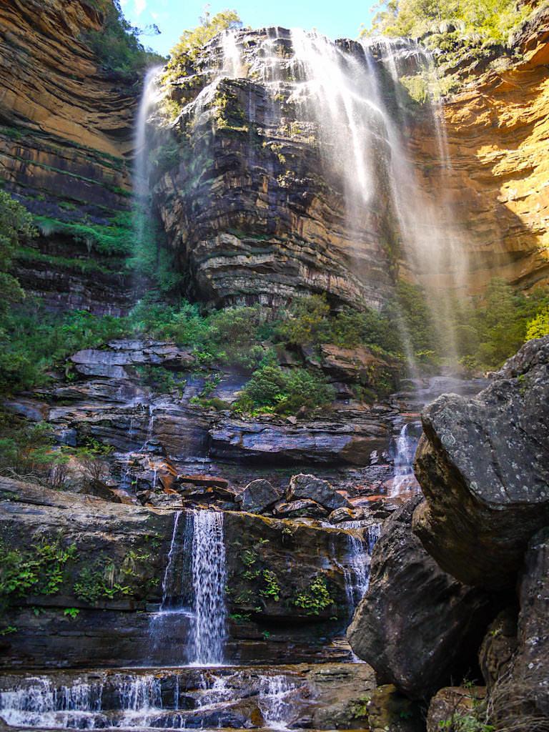 Herrlicher Ausblick auf die Upper Wentworth Falls - Blue Mountain Wanderung - New South Wales