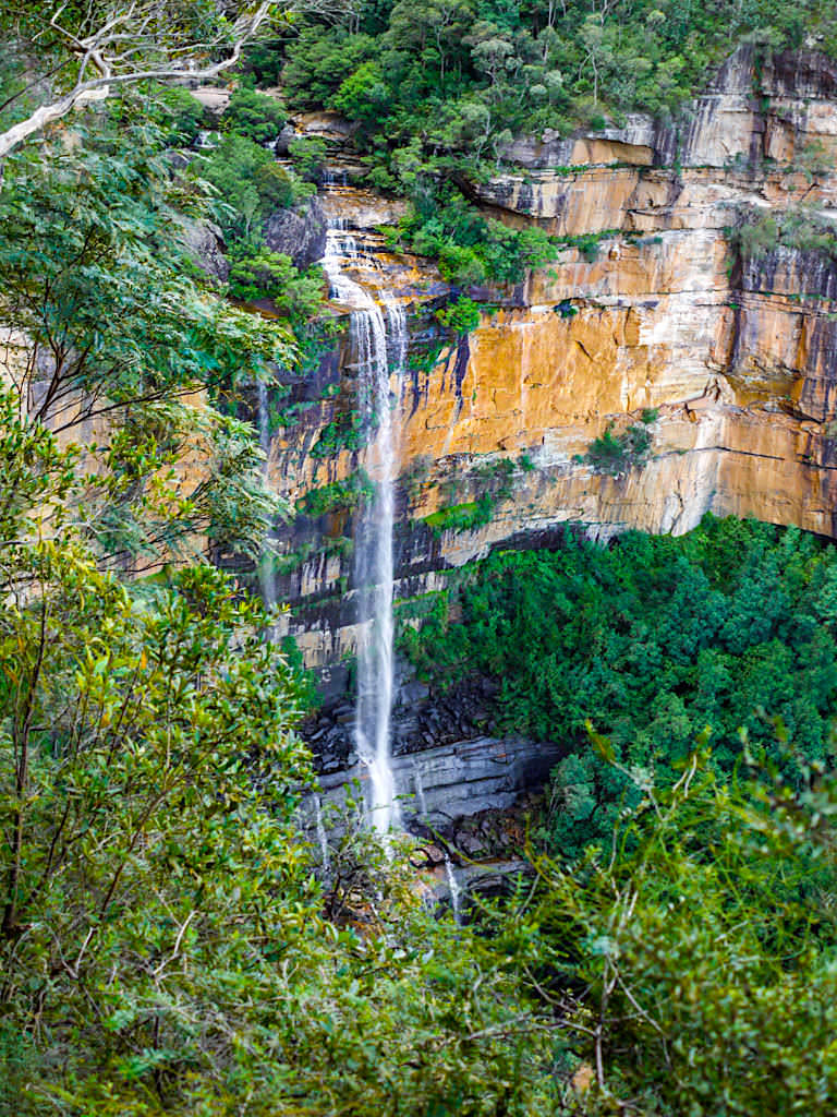 Wentworth Falls - die unteren Stufen des Wasserfalls - Blue Mountains, New South Wales