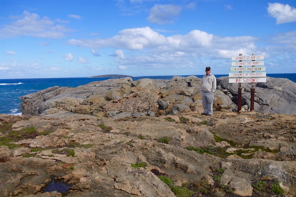 Eine Führung von Bob Theakstone - Cape Carnot bei Port Lincoln auf der Eyre Peninsula - South Australia